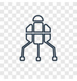 space lander concept linear icon isolated on vector image