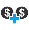 sum money flat icon vector image