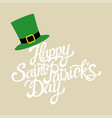 text saint patricks day vector image vector image