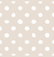 tile pattern with white polka dots on pastel pink vector image vector image