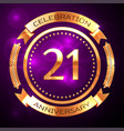 twenty one years anniversary celebration with vector image vector image
