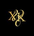 xk x k logo initial mark vector image vector image