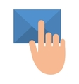 hand touch envelope email message vector image