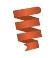 ribbon banner brown design icon vector image
