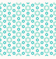 abstract geometric pattern with flower shapes vector image