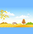 autumn farm fields vector image vector image
