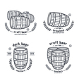 Barrel homebrew emblems vector image vector image
