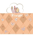 bashower card with little girl sleep vector image