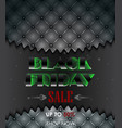 black friday sale with leather upholstery vector image