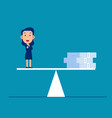 business money on balance scale weighing vector image