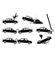 car accident and crash depict a car hit a man vector image vector image