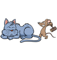 Cat and rat vector image vector image