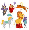 circus funny animals cheerful zoo vector image vector image