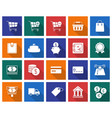 collection of square icons finance and banking vector image vector image