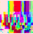 colorful glitch warp background vector image vector image
