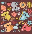 cute koalas seamless pattern vector image vector image