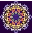 Delicate swirl mandala pattern background Vintage vector image
