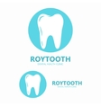 dental clinic logo tooth icon vector image vector image