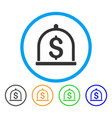 dollar deposit rounded icon vector image vector image