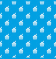 eco house concept pattern seamless blue vector image vector image