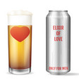 elixir of love modern concept love potion only vector image vector image
