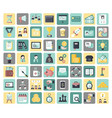 entrepreneurship and business flat icons vector image