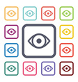 eye flat icons set vector image vector image