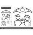 family protection line icon vector image