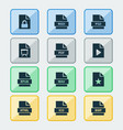 file icons set collection of protection audio vector image vector image