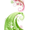 Floral swirl abstract vector image