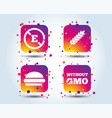 food additive icon hamburger fast food sign vector image