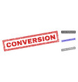 grunge conversion scratched rectangle watermarks vector image vector image