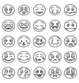 Hand drawing of emoticons or doodle vector image vector image
