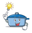 have an idea kitchen character cartoon style vector image vector image
