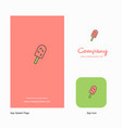 ice cream company logo app icon and splash page vector image vector image
