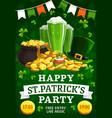 invitation on st patricks feast holiday vector image vector image