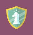 knight chess emblem logo vector image vector image