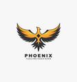 logo phoenix simple mascot style vector image