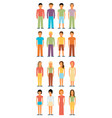 man and woman flat style people figures icons vector image vector image