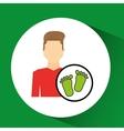 man symbol environment eco footprint icon design vector image