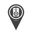 map pointer audio speakers icon vector image