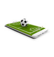 mobile football soccer mobile sport play match vector image vector image
