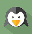 Modern Flat Design Penguin Icon vector image vector image