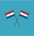 netherlands flag icon in flat design vector image
