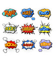 oh and splash boom and bang comic bubles vector image