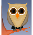 Owl on tree vector image vector image