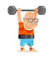 powerlifting fitness healthy activities vector image vector image