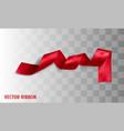 red realistic silk ribbon vector image vector image