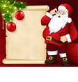 Santa Claus with the card vector image vector image