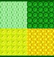 seamless abstract circle pattern design vector image vector image